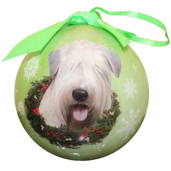 Soft Coated Wheaten Terrier Christmas Ball Ornament
