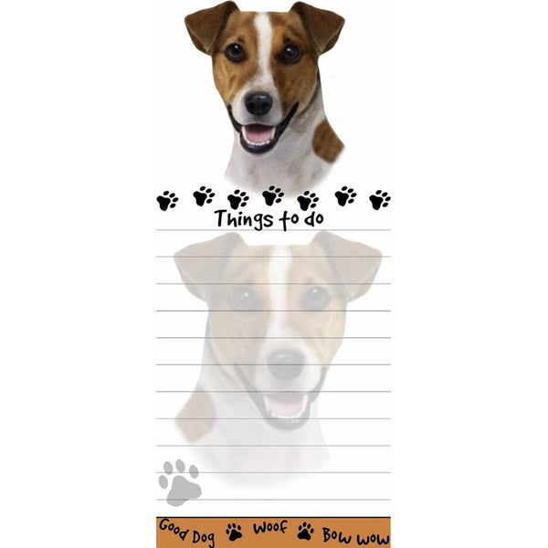 Jack Russell Tall Magnetic Notepad