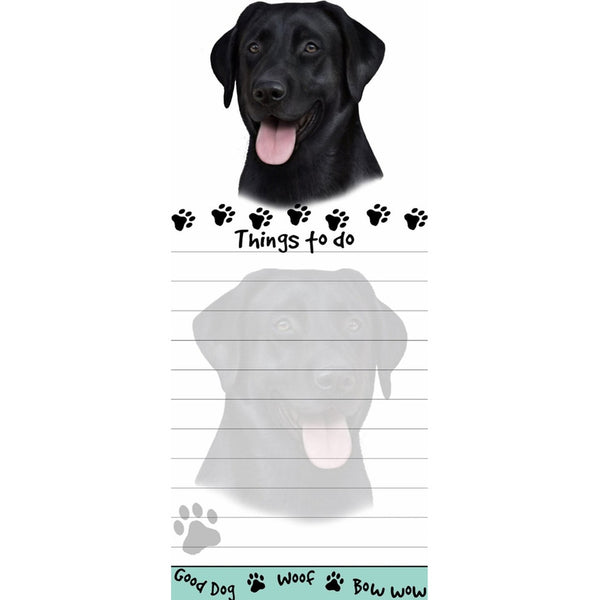 Black Labrador Tall Magnetic Notepad