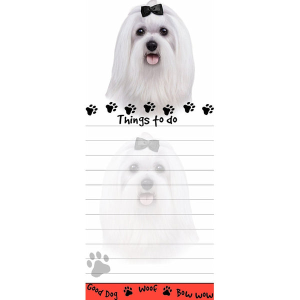 Maltese Tall Magnetic Notepad