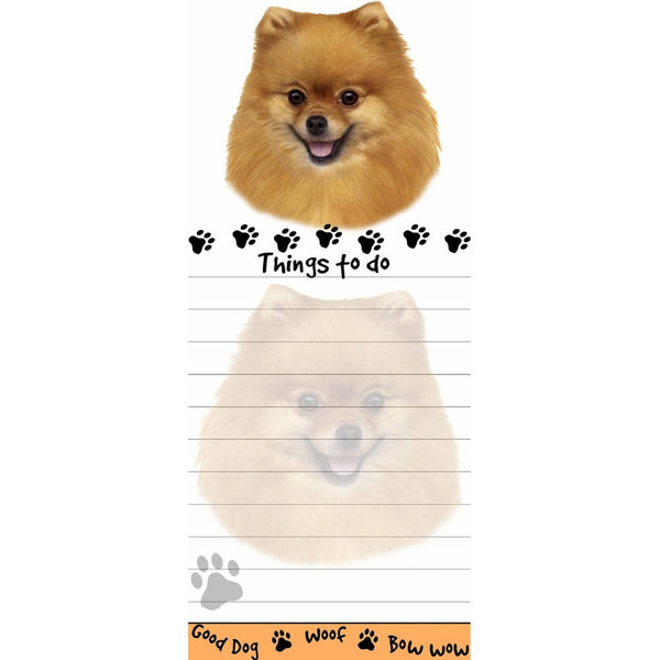 Pomeranian Tall Magnetic Notepad
