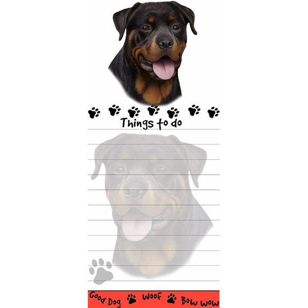 Rottweiler Tall Magnetic Notepad