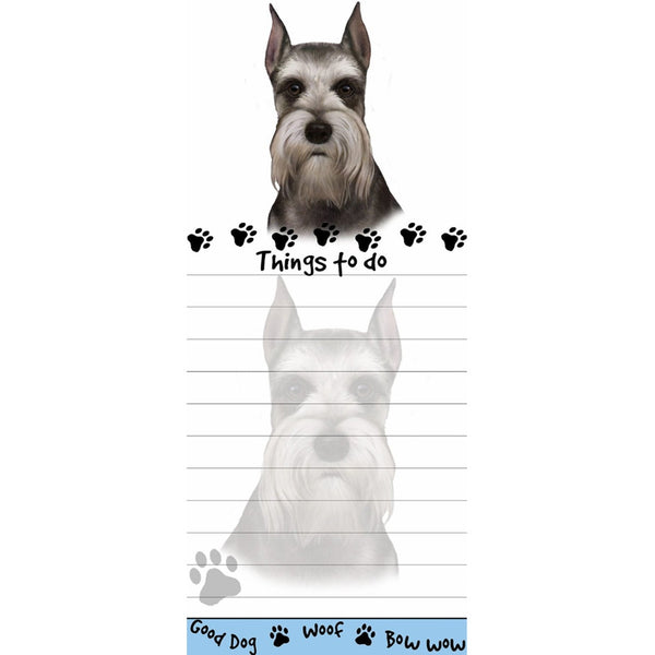 Schnauzer Cropped Tall Magnetic Notepad