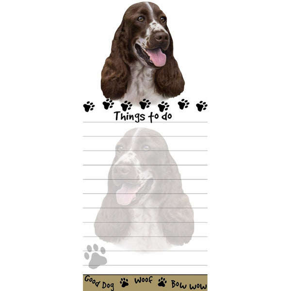 Springer Spaniel Tall Magnetic Notepad