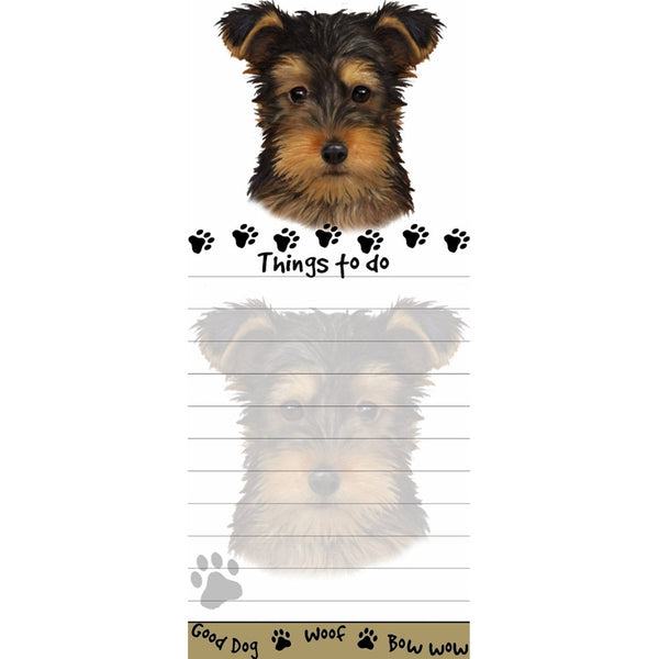 Yorkie Pup Tall Magnetic Notepad