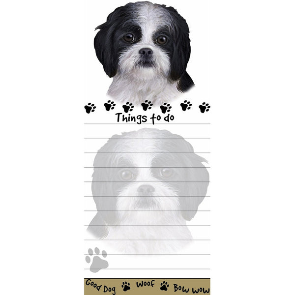 Black And White Shih Tzu Puppy Cut Notepad