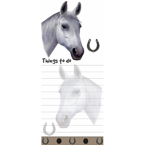 White Horse Tall Magnetic Notepad