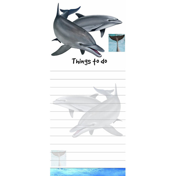 Dolphins Tall Magnetic Notepad