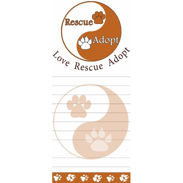 Rescue and Adopt Tall Magnetic Notepad