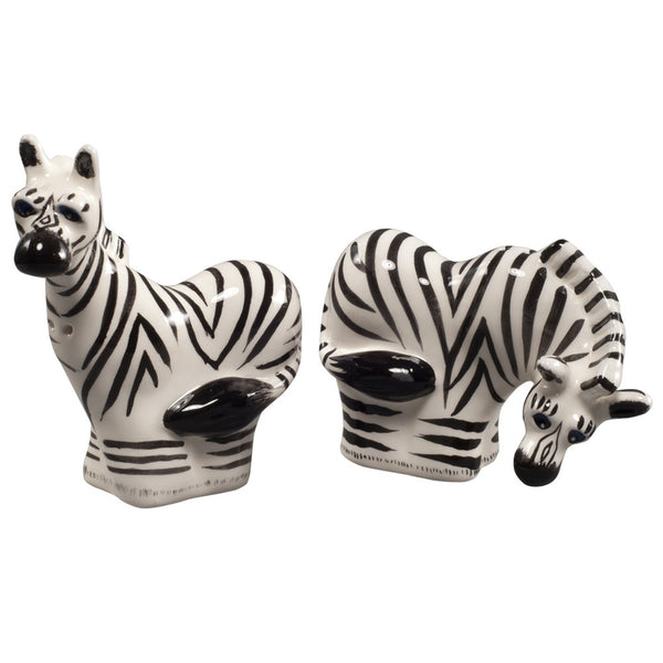 Safari Zebras Salt And Pepper Shakers