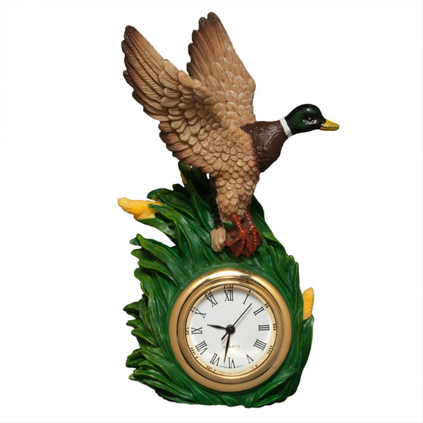 Mallard Duck Flying Mini Clock
