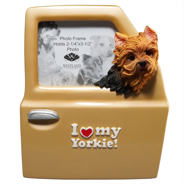 I Heart My Yorkie Driving Picture Frame