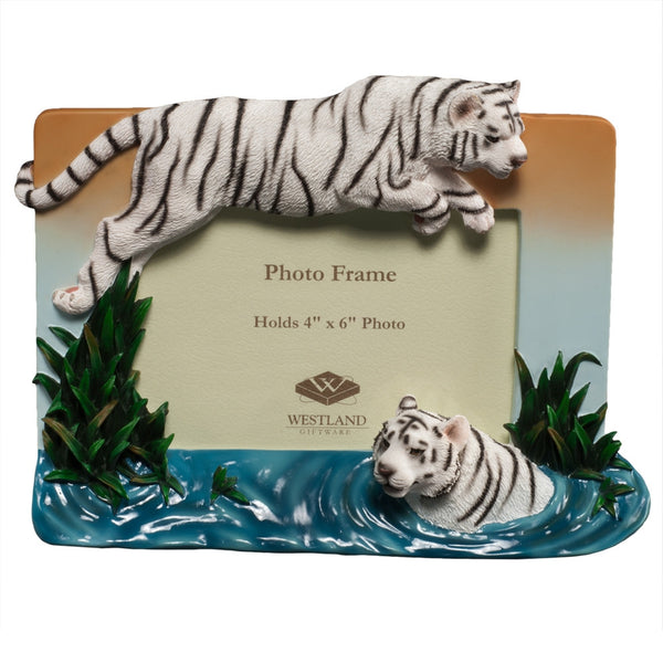 White Tiger Leap Of Faith Picture Frame