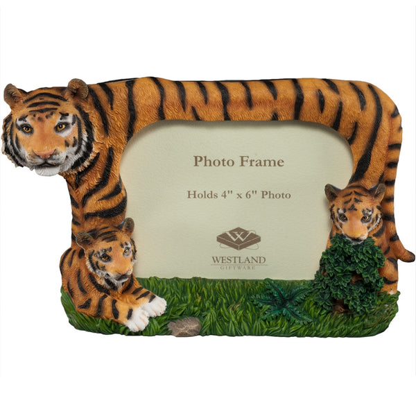 Tiger Family In the Grass Picture Frame