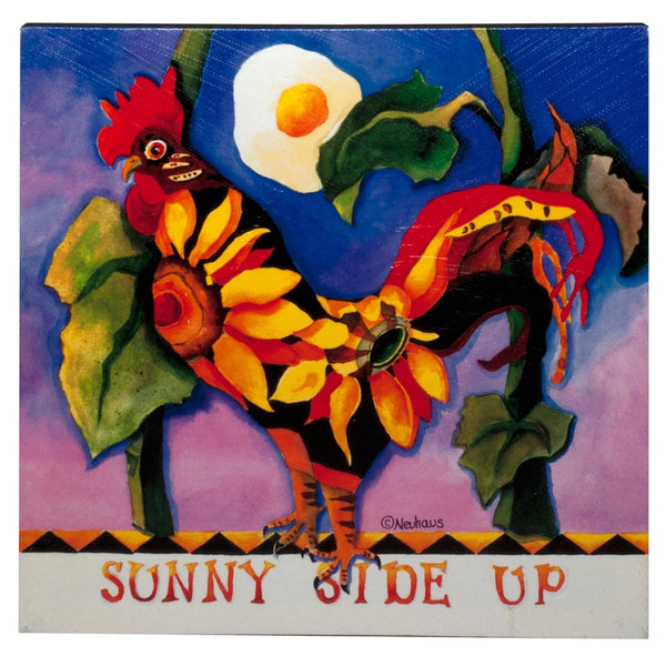 Sunny Side Up Rooster Canvas Wall Art