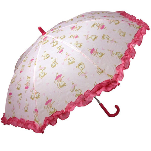 Monkey Ballerina All-Over Print Children's Umbrella