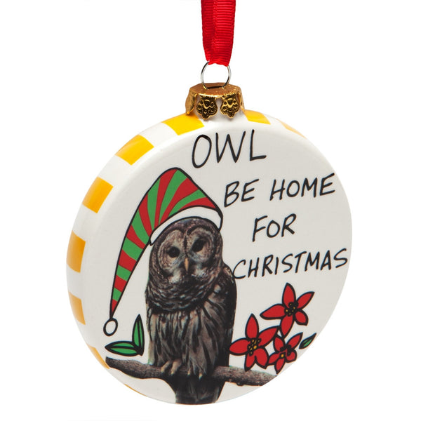 Owl Be Home Christmas Ornament