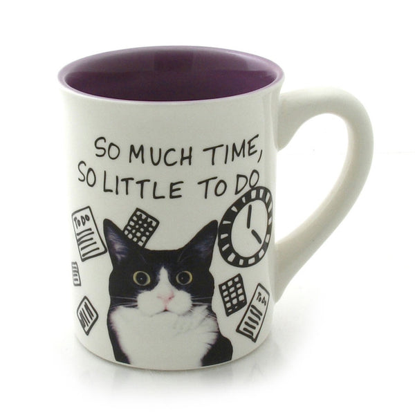 So Much Time Cat Coffee Mug