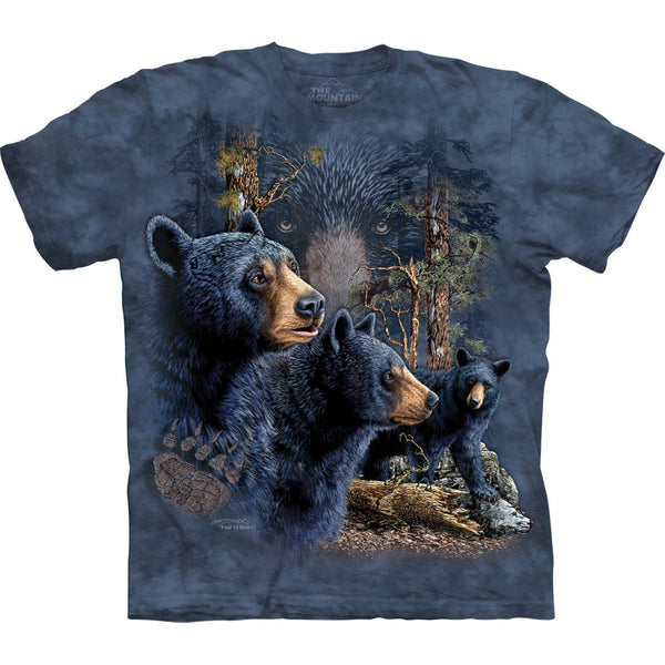 Black Bear Find Thirteen Kids T-Shirt