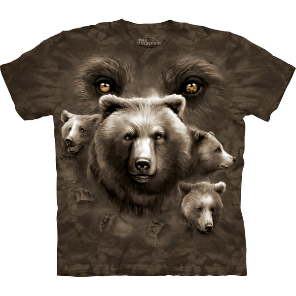 Bear Eyes Collage Kids T-Shirt