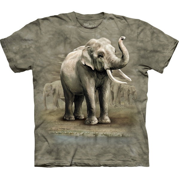 Asian Elephants on the Move Kids T-Shirt
