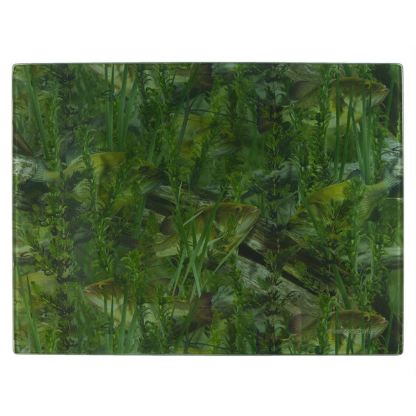 Fish-ouflage Tempered Glass Cutting Board