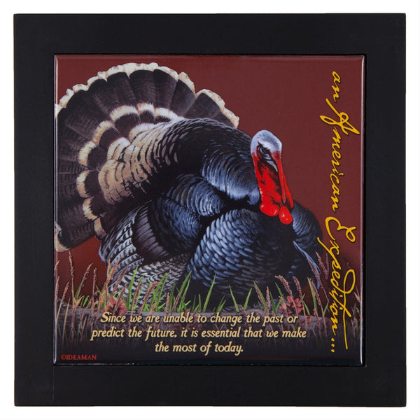 Wild Turkey Wood Framed Trivet