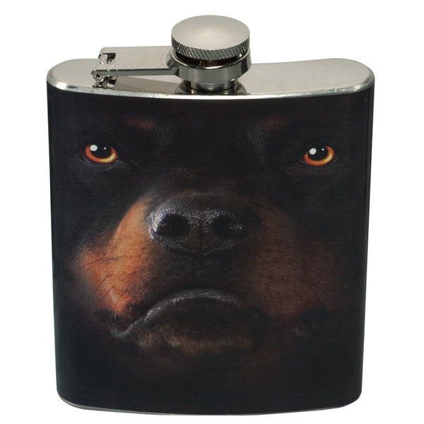Rottweiler Face Flasks