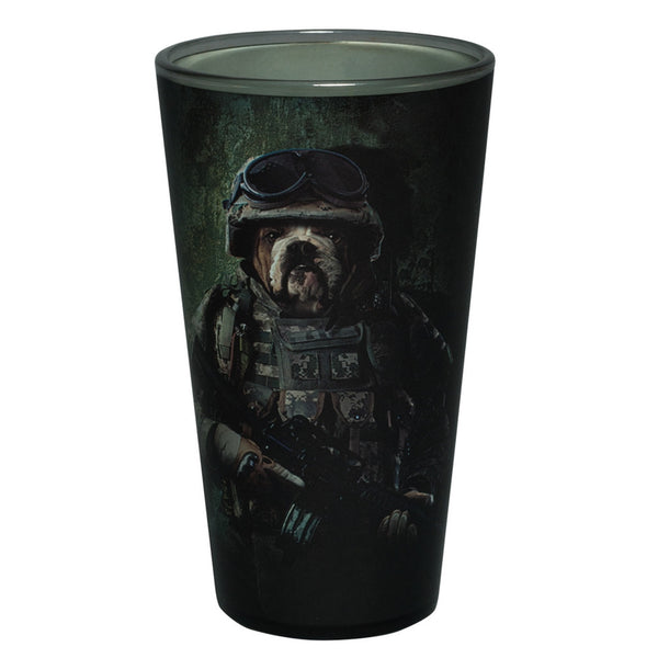 Combat Bulldog Marine Pint Glass