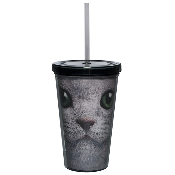 White Cat Face Tumbler
