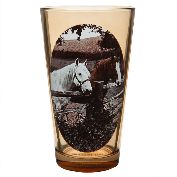 Two Horses Portrait Pint Glass