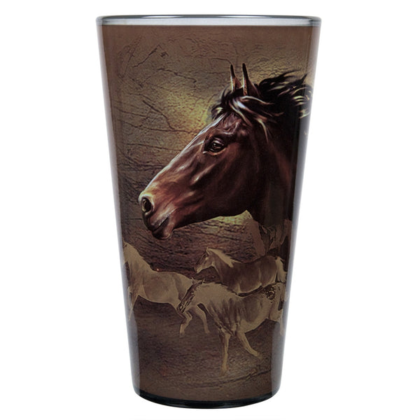 Horse Running Wild Pint Glass