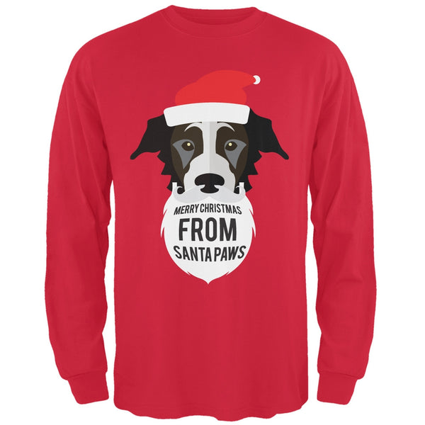Black Dog Santa Long Sleeve T-Shirt