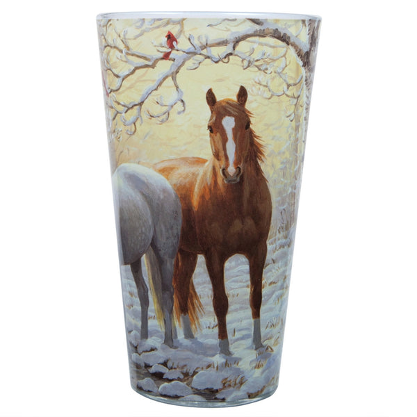 Persis Clayton Weirs - Winter Horse Pint Glass