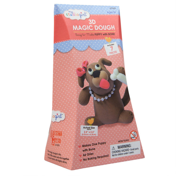 Puppy with Bone 3D Magic Dough Modeling Kit