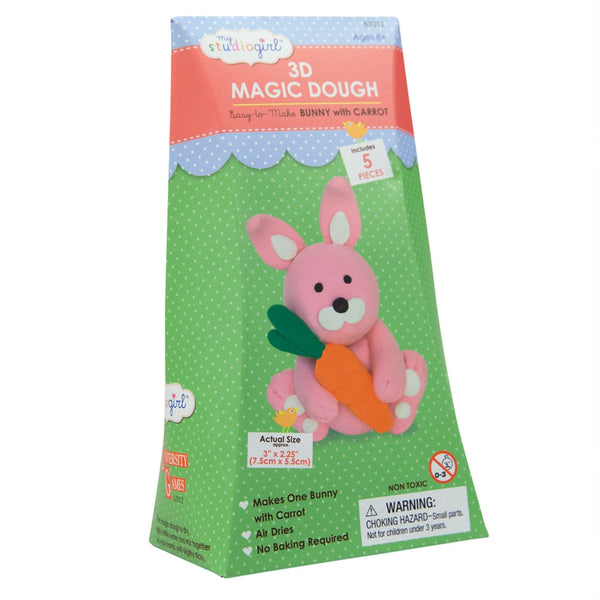 Bunny with Carrot 3D Magic Dough Modeling Kit