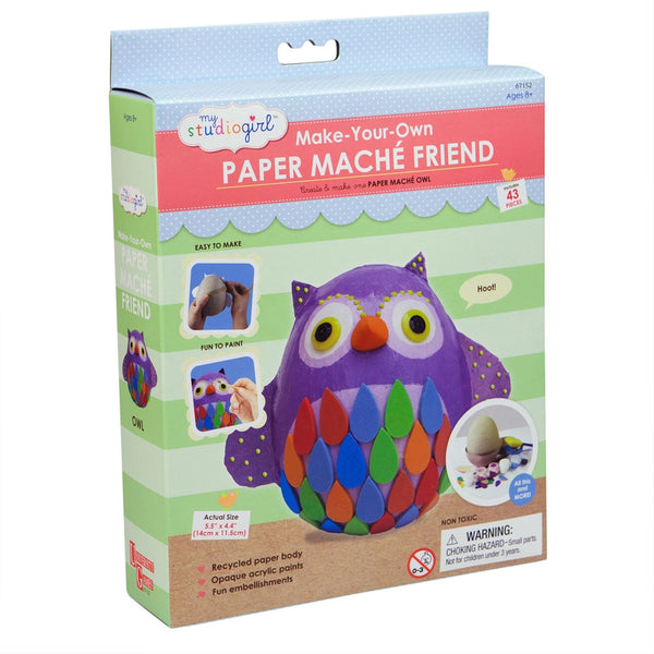 Owl Paper Mache Friend Kit