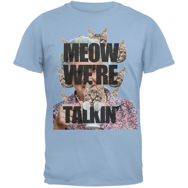 Meow We're Talkin' Blue Adult T-Shirt