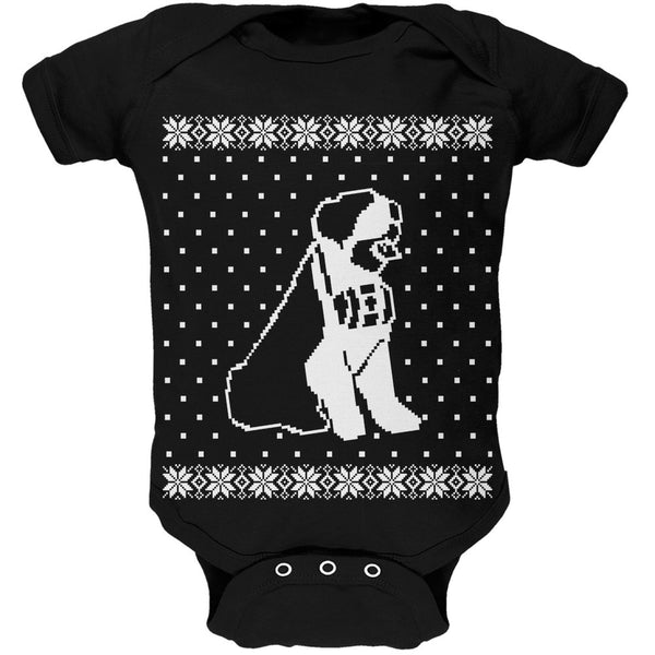 Big Saint Bernard Ugly Christmas Sweater Black Soft Baby One Piece