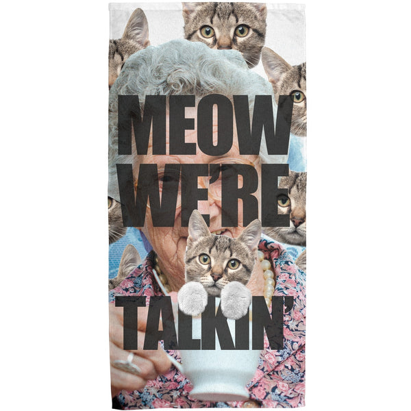 Meow We're Talkin' Sublimated Terrycloth Towel