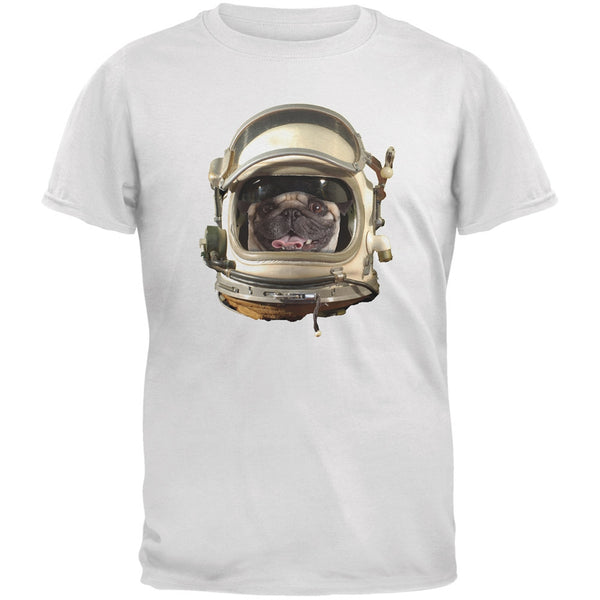 Astronaut Pug Dark Green Youth T-Shirt