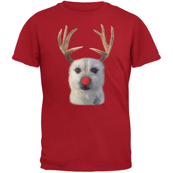 Funny Reindeer Dog Ugly Christmas Sweater Black Youth T-Shirt