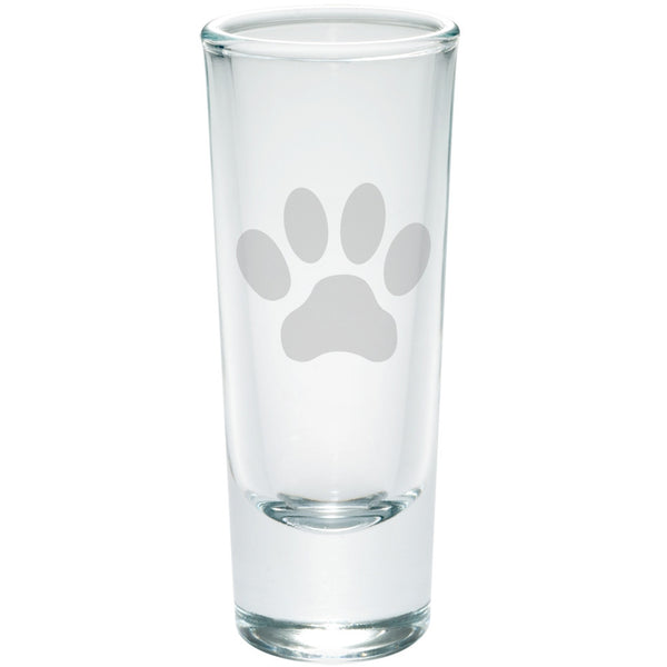 Dog Paw Etched Shot Glass Shooter