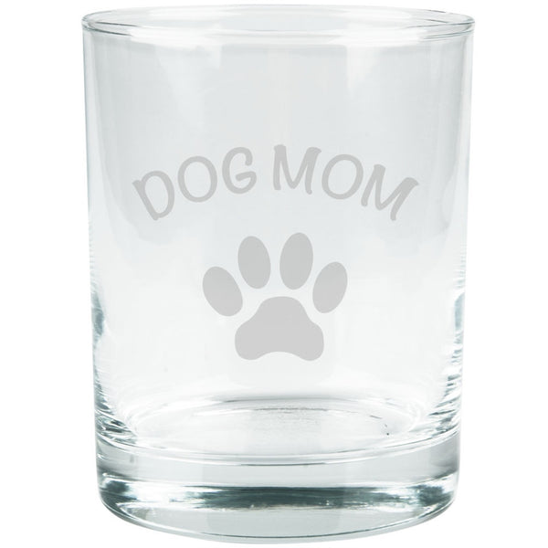 Mother's Day - Dog Mom Etched Glass Tumbler