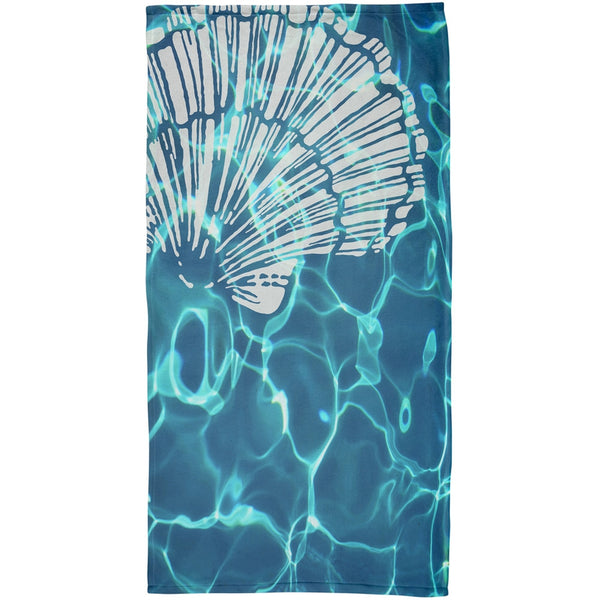 Scallop Shell Plush Beach Towel