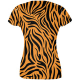 Zebra Print Orange All Over Juniors T-Shirt