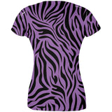 Zebra Print Purple All Over Juniors T-Shirt