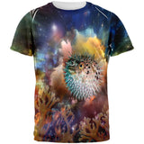 Pufferfish IN SPACE All Over Adult T-Shirt