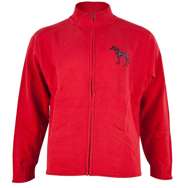 Horse Women's Zip-Up Turtleneck Sweatshirt