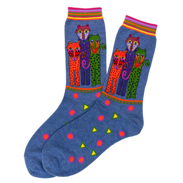 Laurel Burch Polka Dot Leopards Socks